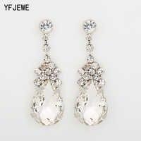 YFJEWE Cubic Zirconia Drop Earrings With Tiny CZ Luxury Bridal Wedding Earrings For Women Rhodium Plated Wholesale E038