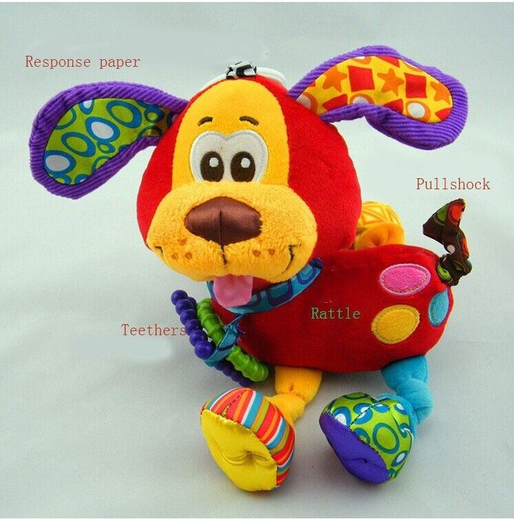 Fashion Cute Animal Soft Rattles Bed Crib Stroller Music Hanging Decpratopms Bell Toy Dog Home Decor