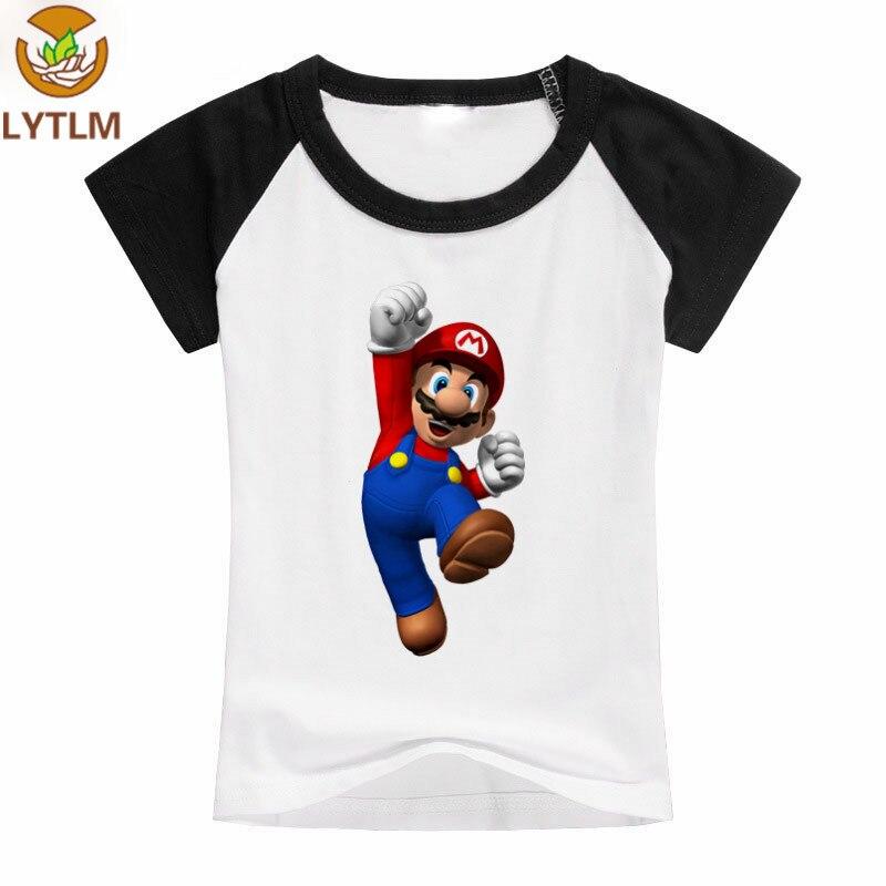 LYTLM Super Mario Shirt Kids Spring Kids T-shirts Knitted Baby Boys Shirts Summer Baby Girl Tshirt Boys Girls Clothes 10 12 year