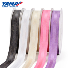 YAMA Gold Purl Grosgrain Edge Satin Ribbon 9mm 16mm 25mm 38mm 100yards/roll 3/8 5/8 1 1.5 Woven Crafts Gift Packing Hair Bow