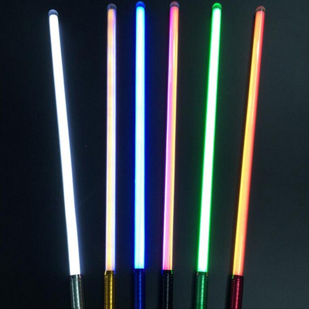 2018 nuevo unids 16 tipos 1 pieza de sonido Luke Lightsaber negro serie 60 100 cm de longitud Vader espada luz Saber regalo de cumpleaños para niños