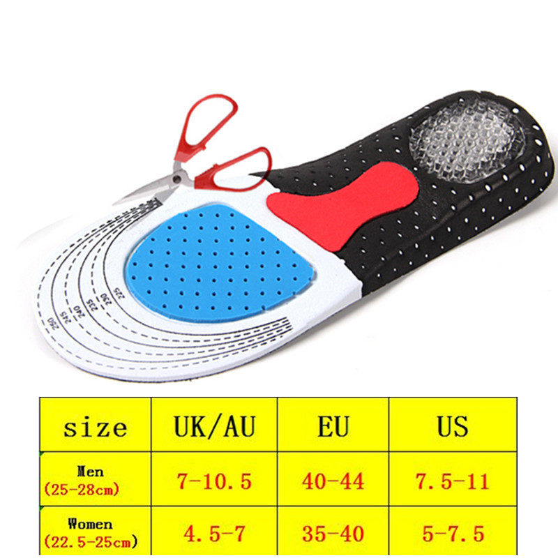 New Shock Absorption Pads Silicone GEL Insoles Foot Care For Plantar Fasciitis Heel Spur Running Sport Insoles For Men And Women