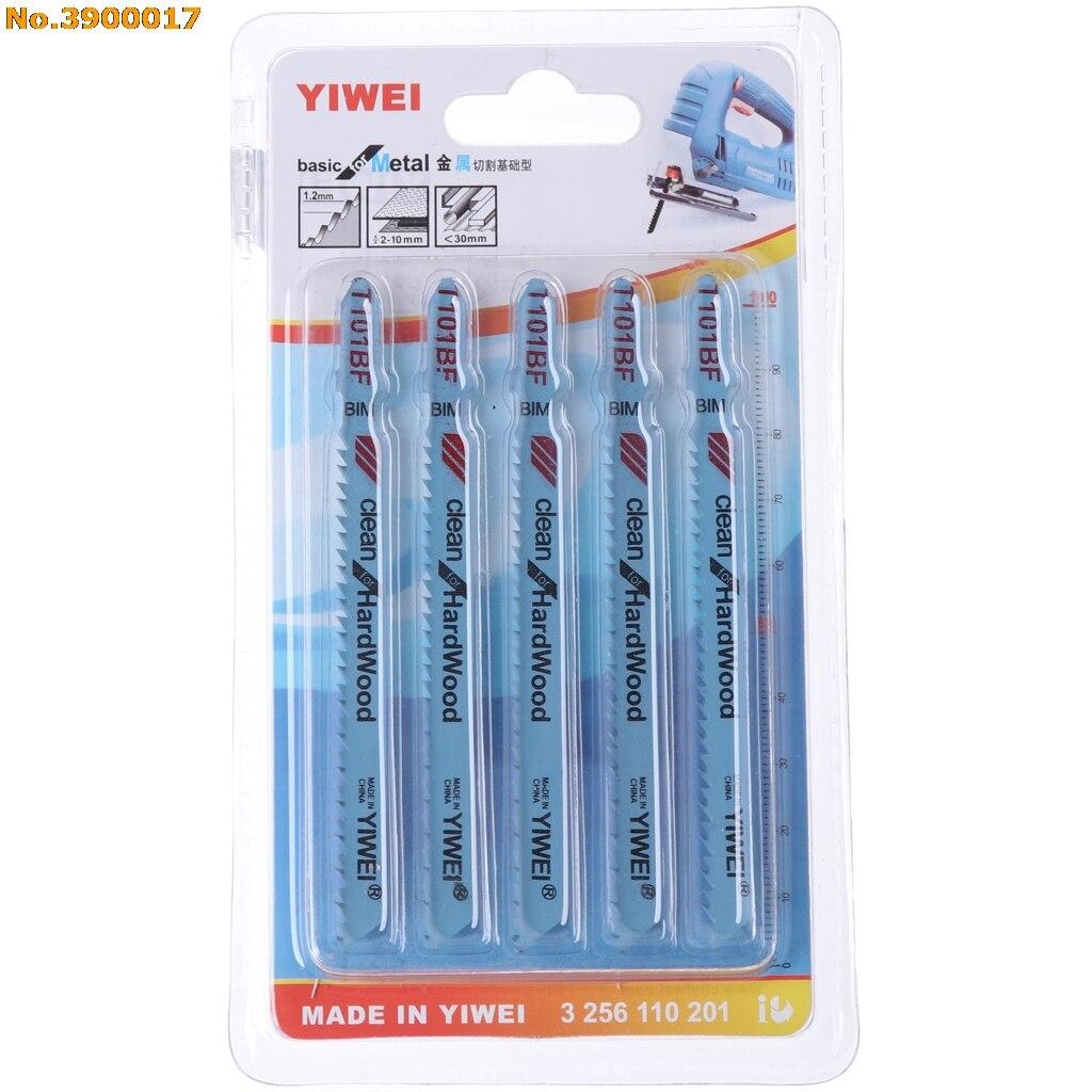 Arrival 5Pcs/set T123X 4 Inch HCS T-Shank Jigsaw Blades Set For Metal Cutting