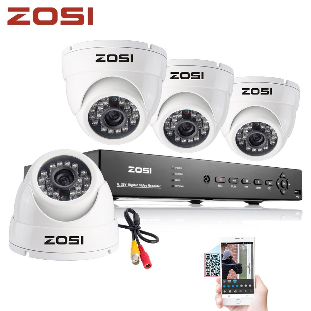 ZOSI Home HD 4PCS 1000TVL CCTV Security Camera System 8CH 960H DVR Outdoor Day/Night IR Camera DIY Kit Video Surveillance System