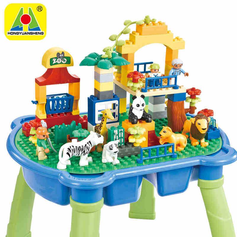 Giocattoli per bambini Multi funzionale Particelle Più Grandi di Assemblaggio Blocchi Di Puzzle Parco di Divertimenti Con Tavoli per I Giocattoli Dei Bambini - 2