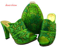 doershow Shoes and Bag Set High Quality Matching Italian Shoes and Bag Set African Women Wedding Shoes and Bag BCH1 34