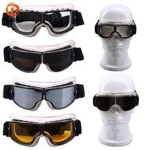 POSSBAY Vintage gafas de moto de cuero blanco a Rosa MX esquí bicicleta al aire libre gafas motocross ciclismo gafas