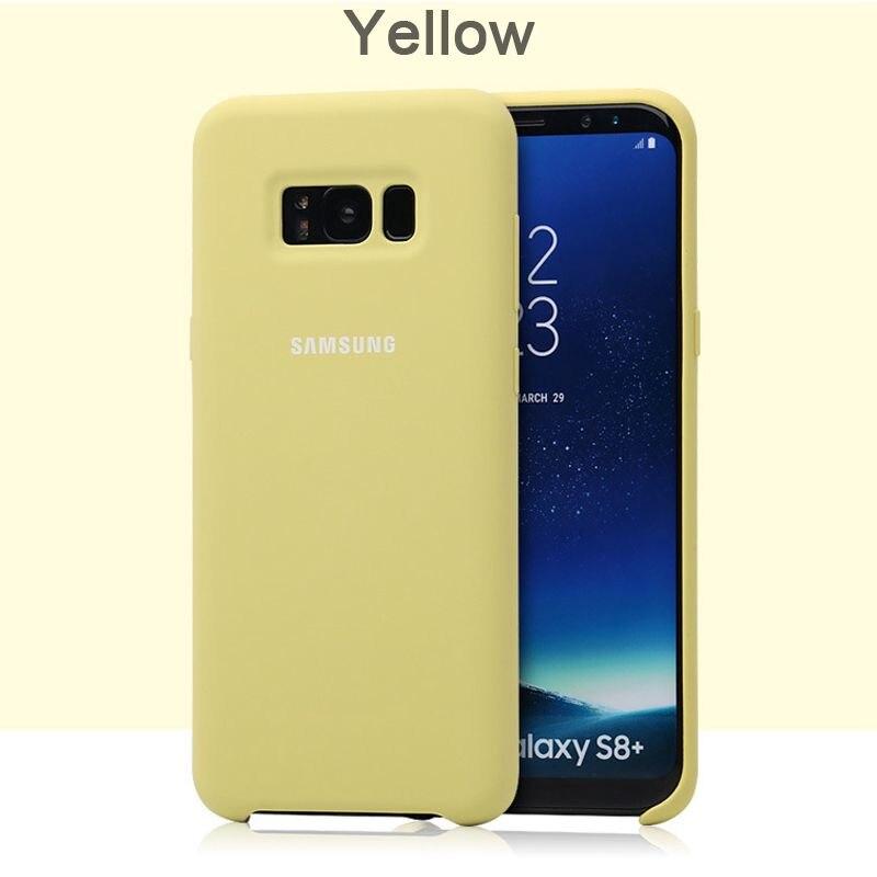 samsung Galaxy S8 S8 Plus силиконовый чехол 360 Защита противоударный G950 G955 чехол для телефона - Цвет: Yellow