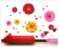 뜨거운 판매 새로운 Adesivo 드에서 Parede 3d 꽃 벽 스티커 룸 장식 침실 거실 창 태그 벽지