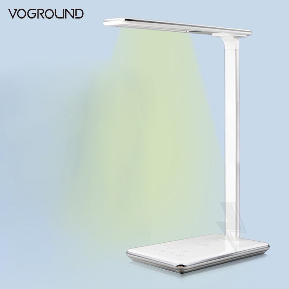 VOGROUND LED Desk Table Lamp Folding Light Qi Wireless Fast Charger For iPhone X 8 Plus For Samsung Galaxy S7 S8 S8+ S6 edge