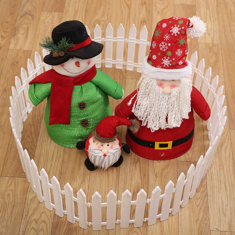 High Quality White Plastic Fences For Christmas Tree Large Outdoor Plastic Christmas Decorative Fence Lattice 6A0445