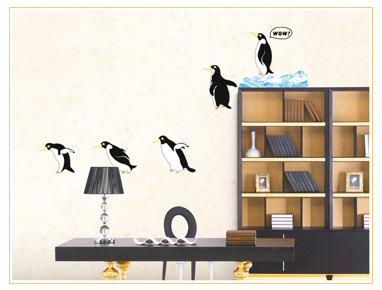 CM Height Big Penguins Vinyl Wall Stickers Removal Animals - Vinyl wall decals removable how to remove