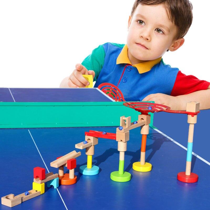 Nouveaux jouets éducatifs en bois pour enfants boules en bois pour construire des blocs