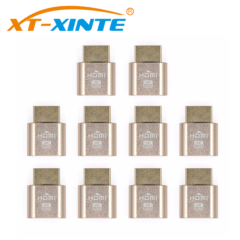 10PCS VGA Virtual Display Adapter HDMI 1 4 DDC EDID Dummy Plug Headless Ghost Display Emulator