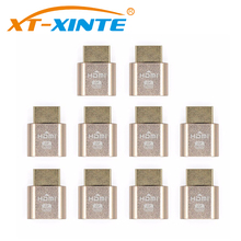 10PCS VGA Virtual Display Adapter HDMI 1.4 DDC EDID Dummy Plug Headless Ghost Display Emulator Video card Lock plate