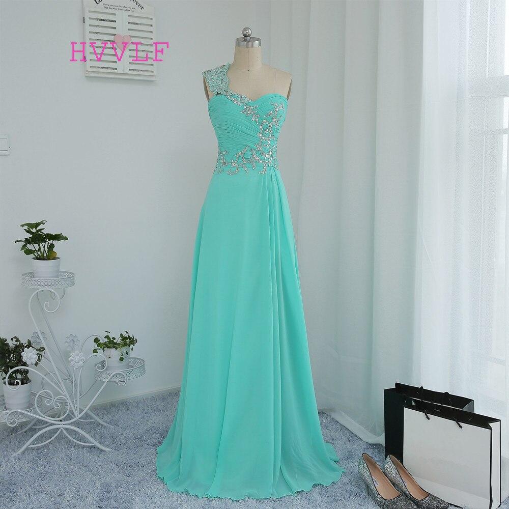 Looks - One mint shoulder green prom dress video