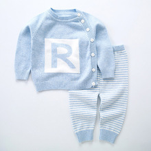 New Infant baby's Cardigan Sweater Autumn 2018 New Cotton Sweaters Toddler Baby Boys Girls Knitted Suits Striped Coats JF185