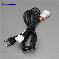 Liandlee For Mazda 3 Mazda3 Axela Sedan 2014~2017 Rear View Camera Original Video Input Switch RCA Adapter Connector Wire Cable