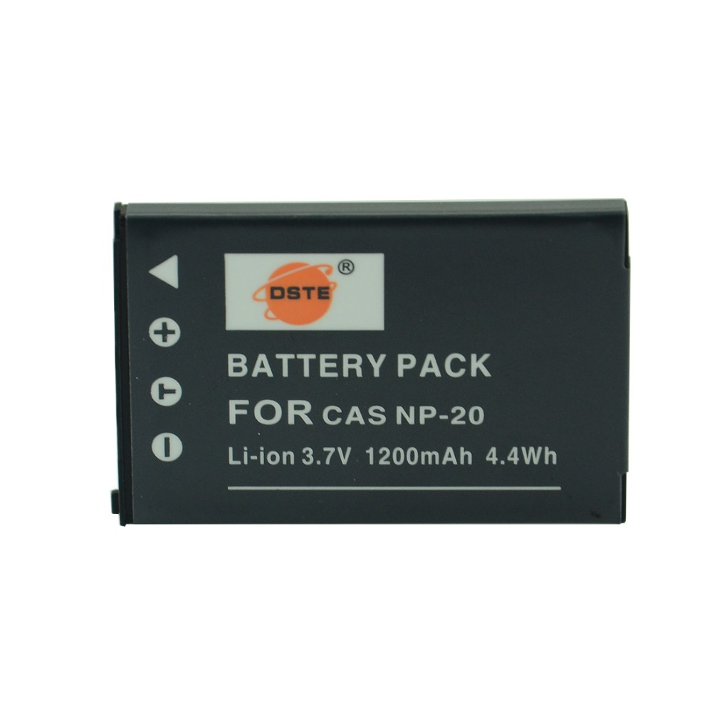 DSTE NP-20 Rechargeable Battery for Casio Exilim EX-M1 M2 EM20 M20U S1 S100 S100WE S1PM S2 S20 S20U S3 Digital CameraDSTE NP-20 Rechargeable Battery for Casio Exilim EX-M1 M2 EM20 M20U S1 S100 S100WE S1PM S2 S20 S20U S3 Digital Camera