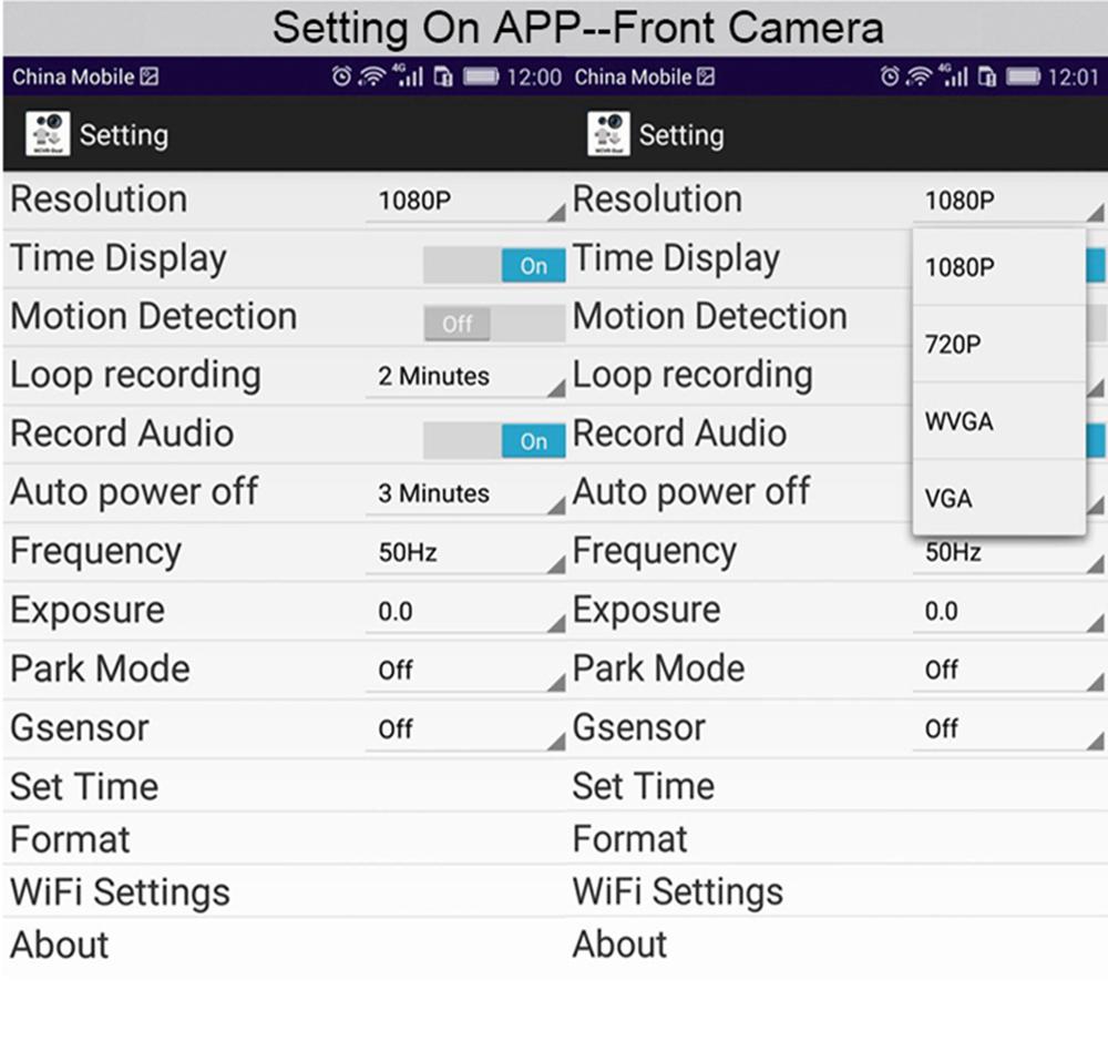 E-ACE Hidden Wifi Mini Car Dvr Full HD 1080P Video Recorder Night Vision Dvrs Auto Dash Cam Dual Camera Lens Automotive Car Cams 9