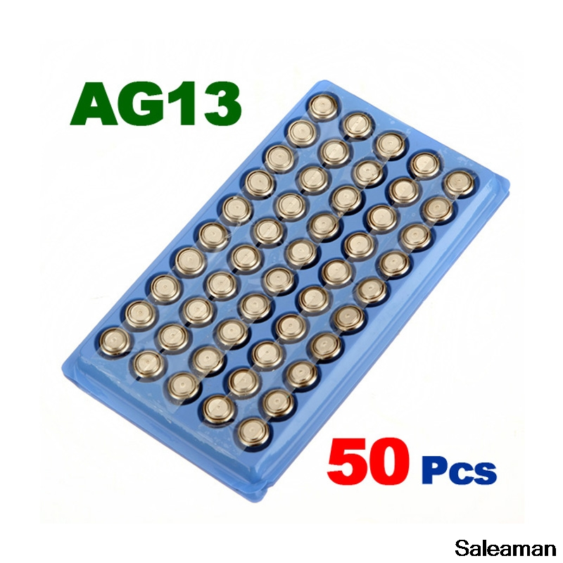 Saleaman оптовая продажа 50 шт. AG13 LR44 SR44 <font><b>357</b></font> кнопки сотового Батарея 1.5 В Щелочная монет Батарея для игрушки фонарик часы RC Батарея