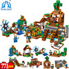 Minecraft 8 in 1 Manor Estate Village House Model Building Blocks Bricks Set Compatible Legoed Minecraft Boys toys for Children