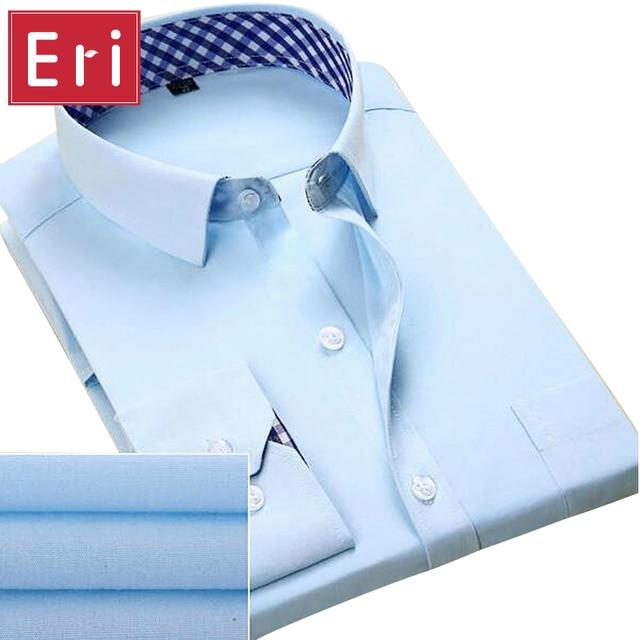 2017 New Fashion Men Shirt Patchwork Plaid Long Sleeve Shirts Slim Fit Casual Dress Mens shirts Social Design Plus Size 4XL X110