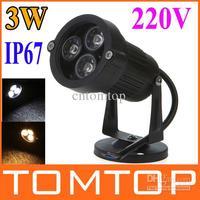 Дешевой цене 3 Вт 3 из светодиодов теплый белый / белый свет лужайки сада лампы открытый парк прожектор лампы 220 В H9136