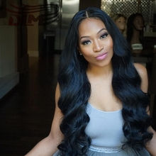 Middle Part Long Body Wave Wig Virgin Hair Brazilian 8A Grade Row Human Hair Affordable Lace Frontal Cap Glueless Thick Wavy Cap