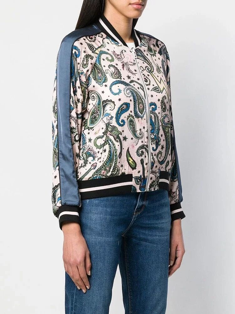 Women Jacket 2019 Spring and Summer New Totem Print Jacket