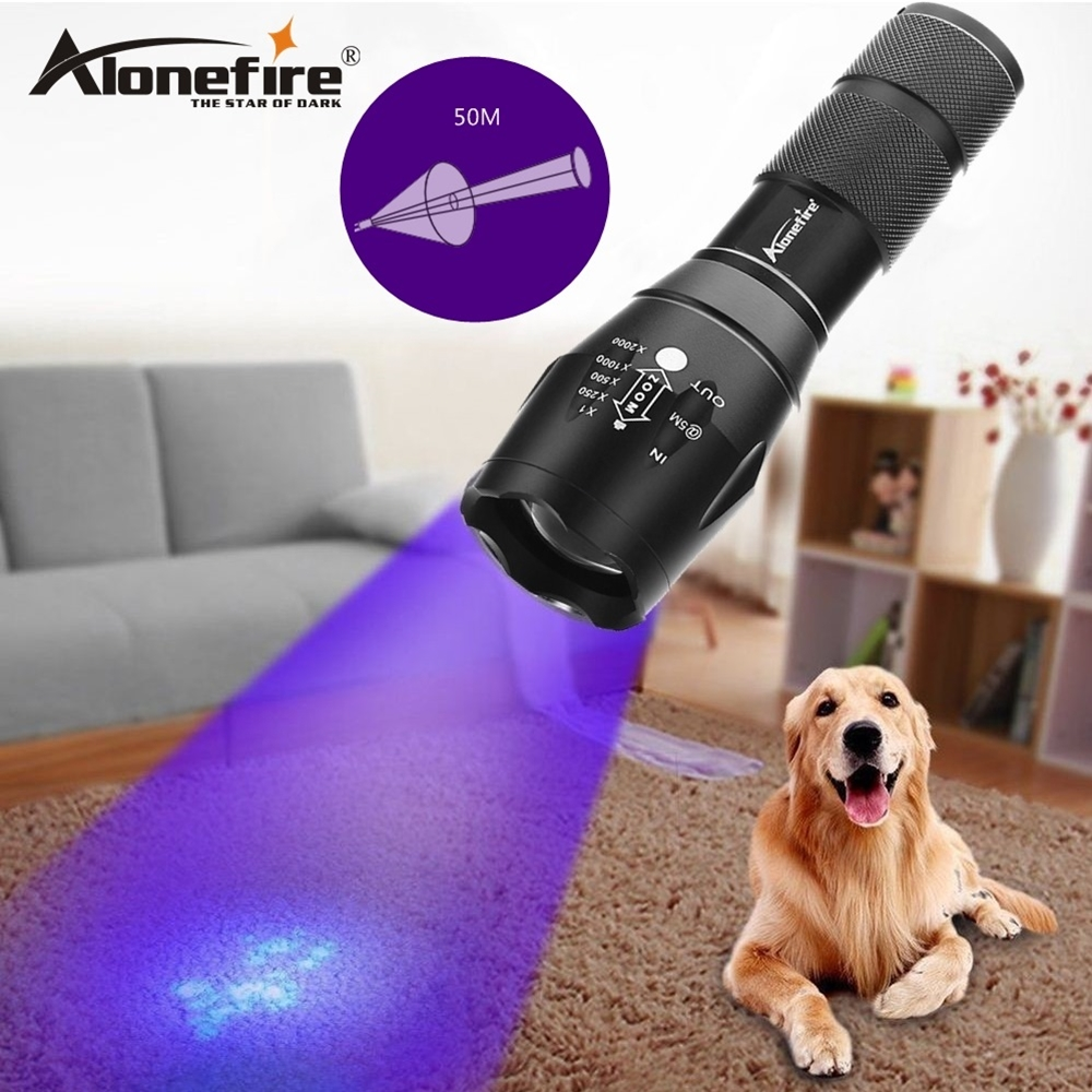 AloneFire G700 XPE Led UV Flashlight Torch Ultra Violet Light Blacklight UV Lamp Marker Checker Detection AAA 18650 battery wf 501b led flashlight 375nm uv ultra blue violet blacklight waterproof torch lamp 18650