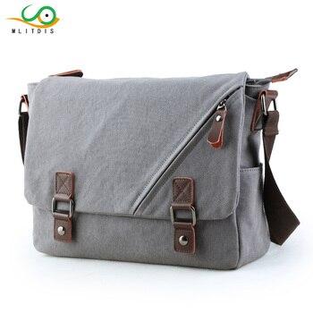 MLITDIS Retro Travel Bags Canvas Bag Men Casual Vintage Multifunction Trunk Men's  Messenger Bag Shoulder Bags For Men Business