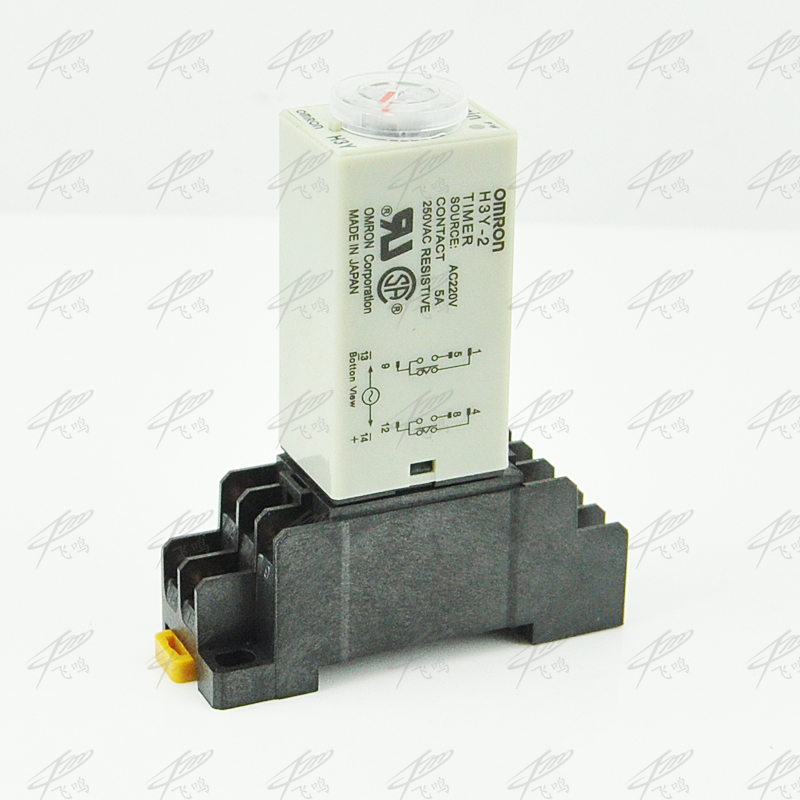 цена на H3Y-4 AC 220V On-delay 4PDT time relay with socket H3Y series timer with base 30s 60s 30min 60min