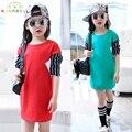 Bebés camisetas niños camiseta de la muchacha tops adolescente ropa de algodón de La Raya de manga larga de los niños de la moda de primavera roupas infantis L297