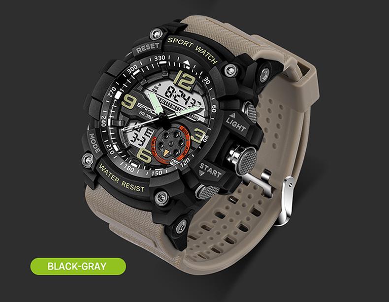HTB1MGtAQVXXXXa.XXXXq6xXFXXXd - 2017 SANDA Dual Display Watch Men G Style Waterproof LED Sports Military Watches Shock Men's Analog Quartz Digital Wristwatches
