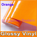 Free shipping car styling glossy vinyl 1.52mx30m high quality car sticker air bubble free many colour on whole car body