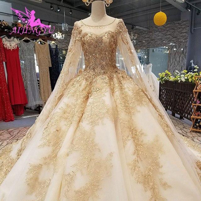 AIJINGYU Made In Peru Muçulmano Vestido De Noiva Africano Vestidos Melhor Escova Vestidos Rosa Belos Vestidos de Casamento Do Inverno Do Vintage