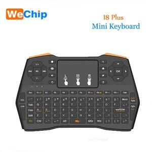 Беспроводная мини-клавиатура I8 Plus, 2,4 ГГц, русская или английская или испанская воздушная мышь, пульт дистанционного управления, тачпад для ...