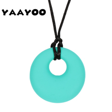 YAAYOO Kids Food Grade Silicone Jewelry Round PendantS   NecklaceS Soft