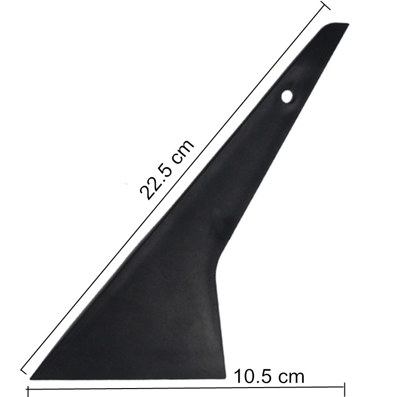 EHDIS Heat Resist Plastic Squeegee Window Tint Tool Long Handled Triangle Scraper Car Window Cleaning Squeegee Glass Wiper A60 the window office paper sticker pervious to light do not transparent bathroom window shading white frosted glass tint