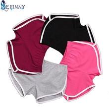 Novo 1 pçs verão calções femininos esportes shorts treino cintura magro fitness correndo vrouw shorts spodenki