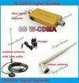 Venda quente!!! novo Mini W-CDMA 2100 Mhz 3G Repetidor de Sinal de Telefone Móvel 3G WCDMA Impulsionador Repetidor de Sinal Amplificador + Cabo + antena