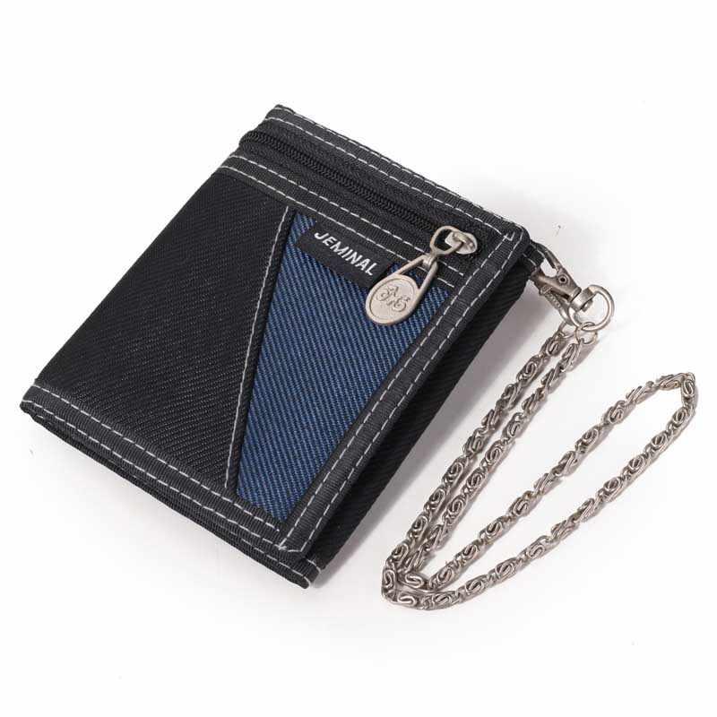 d0765f781 ... Billeteras de los hombres impermeable tela de lona plegable Mans bolsos  de diseño de marca de ...