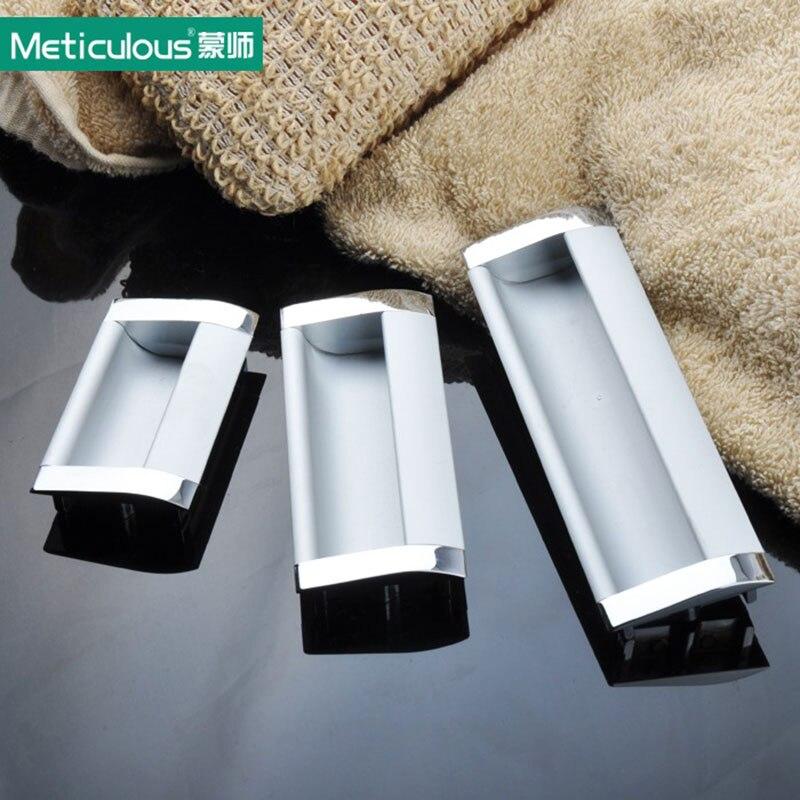 Meticulous Cabinet furniture hidden Recessed Flush Pull aluminum