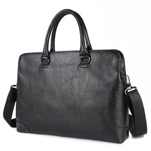 Genuine Leather Laptop Briefcases Business Bag Messenger Men Real Handbag 7406A