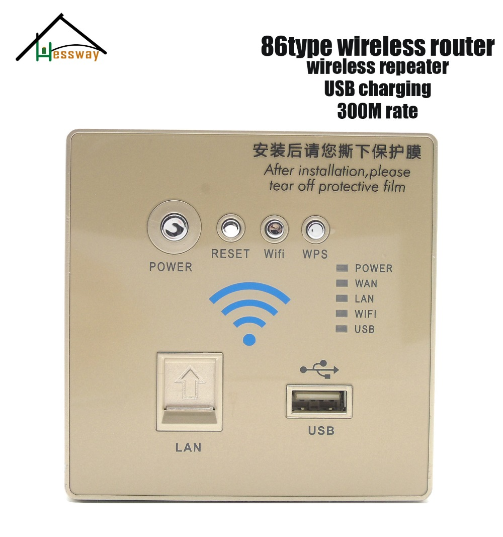 300M pregnant model Walls Embedded Wireless AP Router Wireless WIFI USB Charging Socket Panel