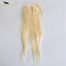 Blonde Lace closure Middle part and Free Part Human Hair Closure 613 Swiss 4*4 Remy Ross Pretty Product