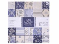 new style 12'' Gift Wrapping Book kit retro parisienne blue 32sheets/set,DIY Scrapbooking Paper pack Set,origami,paper craft