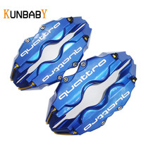 KUNBABY 4PCS Car Styling Disc Brake Quattro Caliper Cover Front Rear For AUDI A3 A4 A5