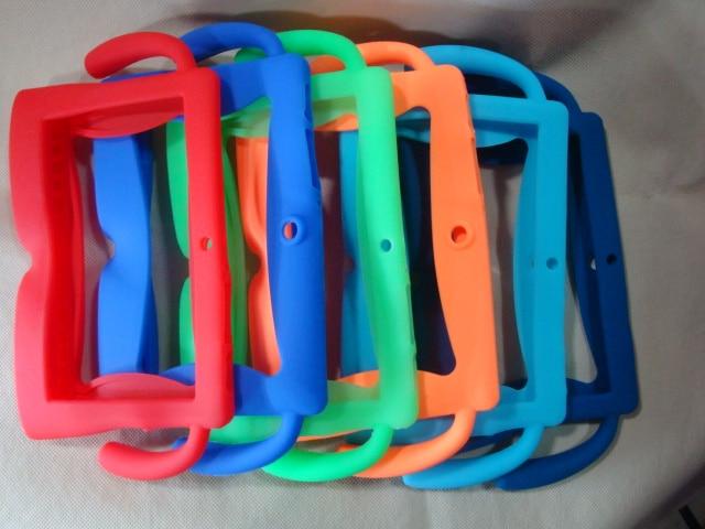 50pcs lot wholesale Multi color kids Soft silicone rubber case for 7inch Q88 a33 tablet pc